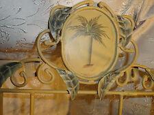 VTG 3-Plate Hanger Hanging Heavy Metal Rodding Sculpted Leaves Palm Tree Header