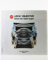 Broschüre Leitz Leica Broschüre Objektive Zeitschrift