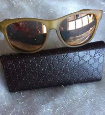 BRAND NEW Gucci Yellow Multicolor Web Stripe Square SunglassesGG 3735/F/S