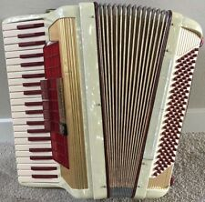 Red Scandalli Dry Tuning Accordion, Excellent Condition