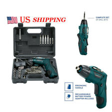 4.8V Mini Rechargeable Cordless Screwdriver Drill Electric Power Tool Kit Set
