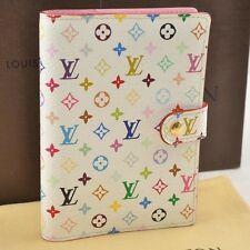 Auth  Louis Vuitton Multicolor Agenda PM Day Planner Cover White R21074 #S2965