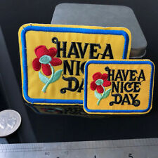 2pcs/Set Have a Nice Day Iron-on Patches Vintage Hippie Boho Sunflower Applique