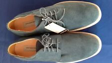MARC NEW YORK (Andrew Marc) Mens shoes blue suede lace ups size 10 NEW