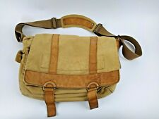 FOSSIL Canvas Leather Messanger Bag Shoulder Computer Carry On Luggage Worn