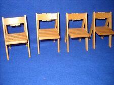 Dollhouse miniature: set of 4 outdoor chairs Miniature Corner -1:12 scale MC3240