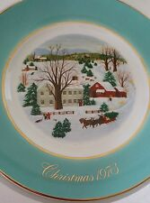 "Vintage Avon Christmas Plate 1973 "" Christmas On The Farm"""