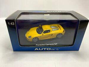 1/43 Porsche Carrera GT AUTOart 58044 Yellow Very RARE
