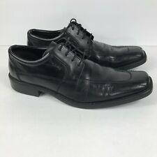 Bugatti 43 US 10 Mens Shoes Dress Black Leather Lace Up Softline