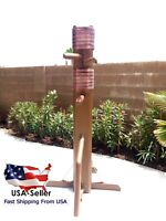 """Wing Chun Wooden Dummy Sale!! We offer 3 sizes 62"""", 64"""", and 68"""";BROWN"""