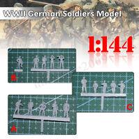 1/144 WWII German Soldiers Figures Battlefield Army Military Resin DIY Model Kit