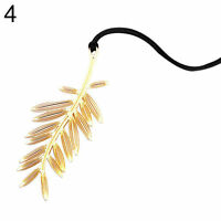 Leaf Shaped Gold Plated Metal Bookmarks Book Markers Gift For Readers