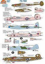 Wolfpak Decals 72-102 Club Med P-38 Liberator Beaufughter Mosquito Mitchell