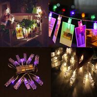 1.5M 10 Led Clip String Lights Fairy Lamp Home Garden Wedding Party Xmas Decor