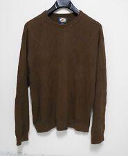 TOMMY BAHAMA Knit Sweater - Men's Size L - Crewneck Cable Sweatshirt Brown