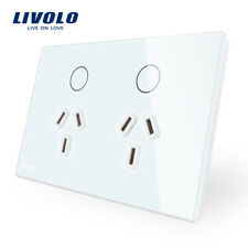 Livolo AU Type Touch Light Switch Glass Panel Power Point Wall Socket  Switch