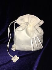 Beautiful Ivory Satin Dolly Bag Ideal Holy Communion, Flower Girl