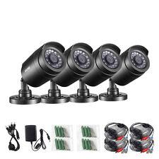 ZOSI 4PK 720P 1.0MP TVI 3.6mm Day Night 24 IR Leds Outdoor CCTV Security Cameras