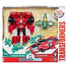 Transformers Robots in Disguise Combiner Force Activator SIDESWIPE & GREAT BYTE