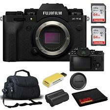 Fujifilm X-T4 Mirrorless Digital Camera (Body Only, Black) Accessory Kit
