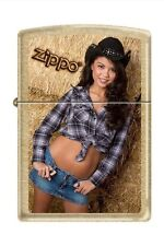 Zippo 3660 sexy cowgirl gold dust finish Lighter