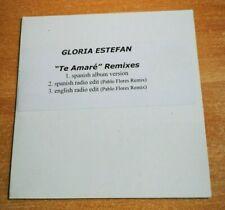 GLORIA ESTEFAN Te amare REMIXES ULTRA RARE SPANISH PROMO CD SINGLE ACETATE