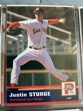 New listing Justin Sturge Minor league baseball card Portland sea dogs