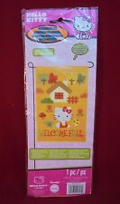 "Hello Kitty Garden Flag Welcome Fall Art Relections 12""x18"""