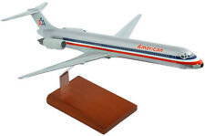 American Airlines McDonnell Douglas MD-80 Desk Top Display 1/100 Model Airplane