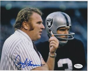 DARYLE LAMONICA SIGNED RAIDERS 8X10 PHOTO WITH JOHN MADDEN JSA STAMP OF APPROVAL