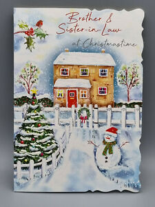 Brother and Sister In Law Christmas Card, Xmas Card, Merry Christmas With Love