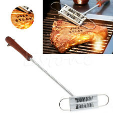 BBQ Barbeque Branding Iron Tool Changeable Letters Meat Steak DIY Barbecue