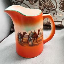 Orange Ironstone Pitcher Arabian Desert SceneEngland
