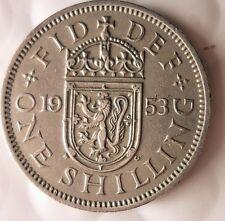 1953 GREAT BRITAIN SHILLING - Uncommon Vintage Coin - BRITAIN BIN #2/SHIL