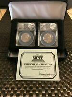 2014 P&D Kennedy 50c High Relief F.D.O.I  2 Coin Set ANACS SP69 / PLUS OGP SET