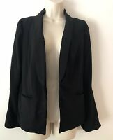 Lauren Conrad Blazer Size 2 Black Long Bell Sleeve Soft Lined Open Front Jacket