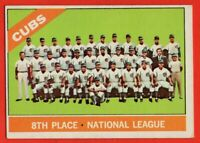 1966 Topps #204 Chicago Cubs Team EX+ Ernie Banks Billy Williams FREE SHIPPING