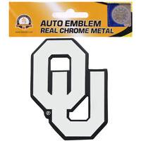 New NCAA Oklahoma Sooners Real Chrome Metal Car Truck Auto 3D Emblem