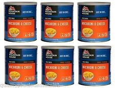 6 - # 10 Cans - Macaroni & Cheese - Mountain House Freeze Dried Emergency Food