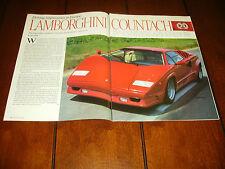 1988 LAMBORGHINI COUNTACH 25th ANNIVERSARY EDITION  ***ORIGINAL ARTICLE***