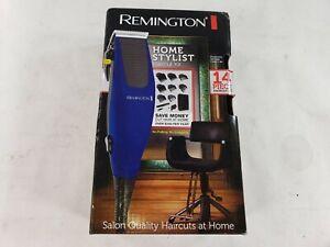 Remington Mens Blue HC1094 Home Stylist Hair Clipper Trimmer Kit 14 Pieces