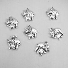 Wholesale 10pcs Tibet silver Elephants Charm Pendant beaded Jewelry Findings