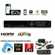 DVR RECORDER 8 CH CANALI AUDIO VIDEO LAN HD HARD DISK FINO A 3 TB NETWORK H.264