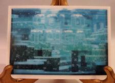 "Cold Taiga Art Lenticular Card Minecraft Mine Chest Landscape 4"" x 6"" New"