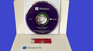 Microsoft Windows 10 Pro Professionnel 64 Bit 1 PC, licence, DVD 64 bit scellé