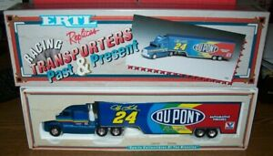 JEFF GORDON #24 DUPONT 1993 WHITE ROSE ERTL 1/64 DIECAST TRANSPORTER