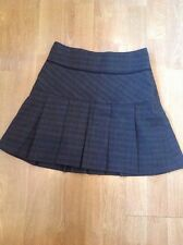 STUNNING NEXT BROWN CHECK SHORT PLEATED SKIRT UK SIZE 6(MORE LIKE 8) WORN ONCE