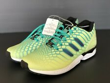 innovative design 0ae16 73d25 New Adidas ZX Flux Xeno Mens Size 10 Frozen Yellow   Glow In The Dark AQ8212