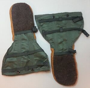 US GI Arctic Military Mittens Air Force COLD WEATHER Flyers Gloves N-4B LARGE