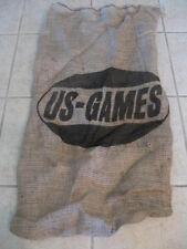 "Burlap Bag Sack 18"" X 34"" Potato Race  Craft Gunny Jute Feed US-GAMES Printed"